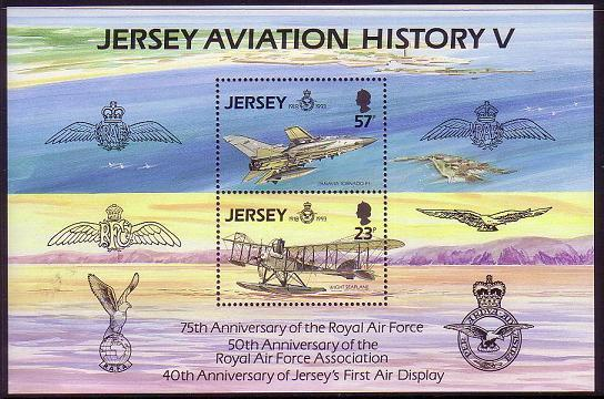 Jersey 75th Anniversary of Royal Air Force MS SG#MS624 CV?4.5