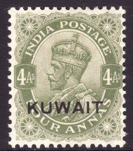 1934 British Kuwait KGV 4 Anna issue MMH Sc# 27 Wmk 196 CV $17.50