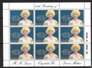 PITCAIRN ISLANDS SG206 1980 QUEEN MOTHER SHEETLET MNH