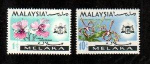 Malacca #67a, 71a  MNH  Scott $7.75