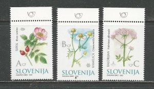 Slovenia Scott catalogue #497-499 Mint NH