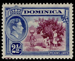 DOMINICA GVI SG103, 2½d purple & bright blue, VLH MINT.
