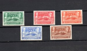 Barbados 1939 Tercentenary set of 5 mounted mint