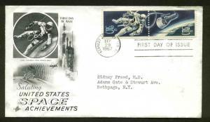 1331-2 SPACE ACHIEVEMENTS FDC KENNEDY SPACE CENTER, FL ART CRAFT CACHET