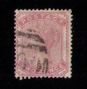 SG 168 Great Britain Pale Rose Used F-VF