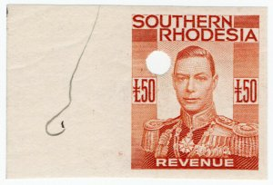 (I.B-BOB) Southern Rhodesia Revenue : Duty Stamp £50 (printer's proof)