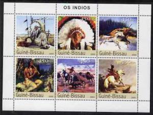 Guinea - Bissau 2003 North American Indians perf sheetlet...