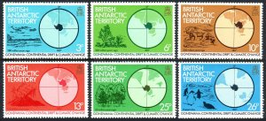 British Antarctic Territory 86-91, MNH. Continental Drift & Climatic Change,1982