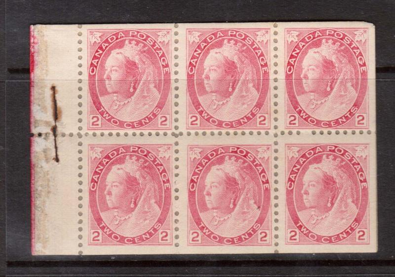 Canada #77b VF Mint Booklet Pane Of Six