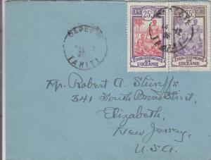 1926, Tahiti, French Polynesia to Elizabeth, NJ (24471)