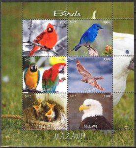 Malawi 2012 Birds (2) MNH Cinderella !
