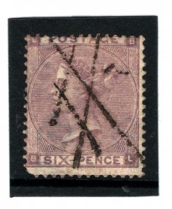 GB 6d Lilac Plate 3 Cancelled Two Stirkes of 1s Accountancy Mark c1862 1139