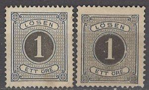 COLLECTION LOT OF #1142 SWEDEN J1 + J12 UNUSED NO GUM 1874+ CV+$77