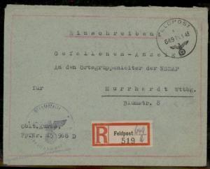 3rd Reich Germany Feldpost Fallen Soldier Effects Cover Murhardt Wuerttemb 88791