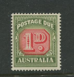 Australia - Scott J87 - Postage Due Issue -1958- No Wmk - MNH -Single 1d stamp