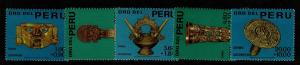 Peru SC# B1 - B5 Mint Hinged / Small Hinge Rems - S7301