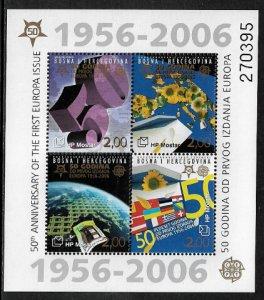 Bosnia, Croat #151e MNH S/Sheet - Europa Stamps 50th Anniversary (e)