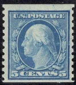 US Stamp #496 5c Washington Coil MINT NH SCV $7