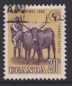 Uganda 1962 Sc#86 Used