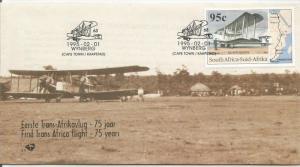 SOUTH AFRICA, 1995, FDC, First Trans-Africa Flight, Scott 907
