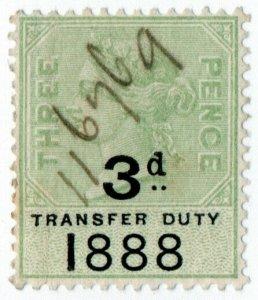 (I.B) QV Revenue : Transfer Duty 3d (1888)