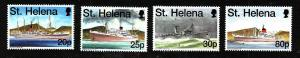St Helena-Sc#707-10-unused NH set-Union Castle Mail Ships-1998-