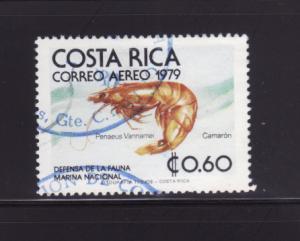Costa Rica C742 U Marine Life, Shrimp (A)