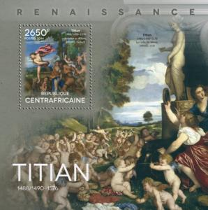 CENTRAFRICAINE 2014 SHEET TITIAN VECELLI ART PAINTINGS