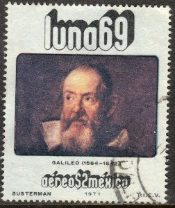 MEXICO C378, Physists and Astronomers - GALILEO GALILEI. Used. F-VF. (1276)