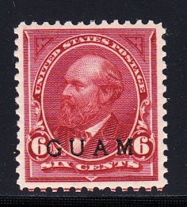 US Guam #6 XF/OG LH  Scarce stamp! A gem example.