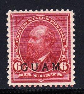 US Guam #6 XF/OG LH  Scarce stamp! A gem example.