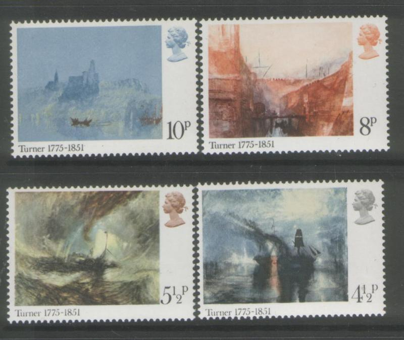 Great Britain 1975 Paintings (4) Scott #736-739