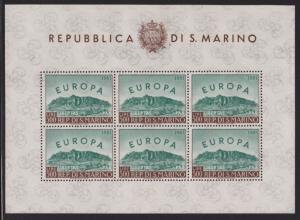 San Marino 490 sheet of 6  VF-NH scv $ 300 ! see pic !