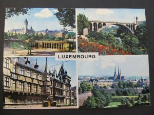 4736 Cartolina Postcard view of Luxembourg used