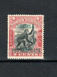 North Borneo 1901-05 4c Orangutan British Protectorate opt perf 14 1/2 -15 MH