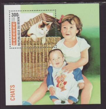 Benin Cat 767 Souvenir Sheet MNH VF