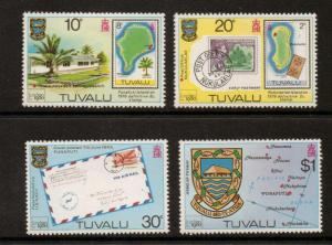 TUVALU SG143/6 1980 LONDON STAMP EXHIBITION MNH