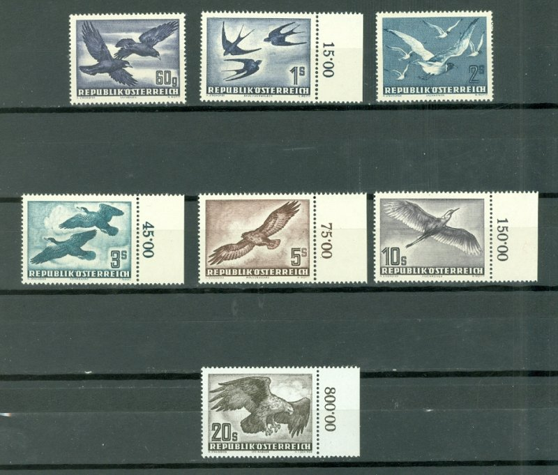 AUSTRIA VERY NICE MNH SET #C54-60...$332.00