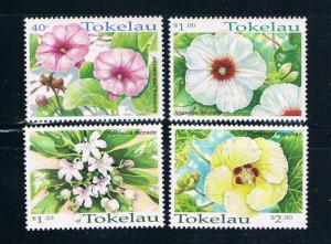 Tokelau 260-63 MNH set Flowers 1998 (T0084)