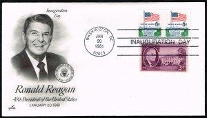 Ronald Reagan Artcraft Cachet Inauguration Day Cover