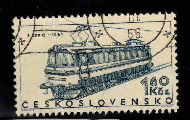 Czechoslovakia Scott 1376 used cto locomotive stamp