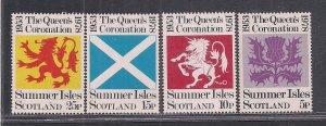 SCOTLAND-SUMMER ISLES SC# UNLISTED  FVF/MNH