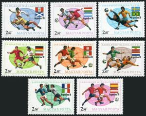 Hungary 2522-2529,2530,MNH.Michel 3284-3291,Bl.130. Soccer Cup Argentina-1978.
