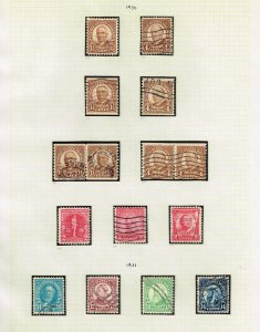 US STAMP  20TH OLD USED STAMP COLLECTION LOT  #M6