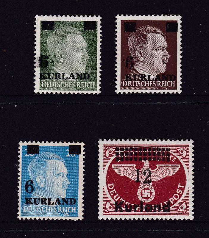German Occupation of Kurland x 4 MH