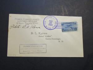 Spanish Ind 1928 West Indian Air Exp Cov 2-23-28 / BL Rowe Signed (III) - Z3662