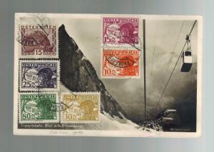1931 Innsbruck Austria Graf Zeppelin postcard cover Hannover Flight