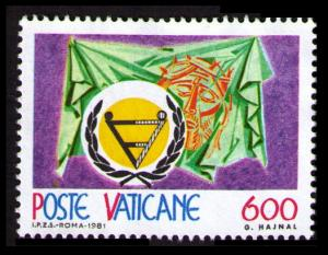 VATICAN 1981 INT'L YEAR OF THE DISABLED 600L #691 VF UNUSED (V728)