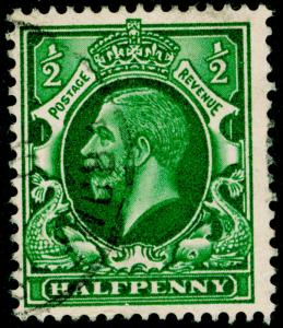 SG439, ½d green, FINE USED, CDS.