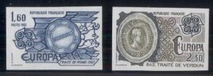 FRANCE #1827-8, Europa set, IMPERFORATE, og, NH, VF, Yvert $125.00